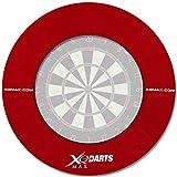 Surround Ring für Dartboards mit Farbauswahl - Dartscheiben Umrandung - Dart Auffangring (Rot)