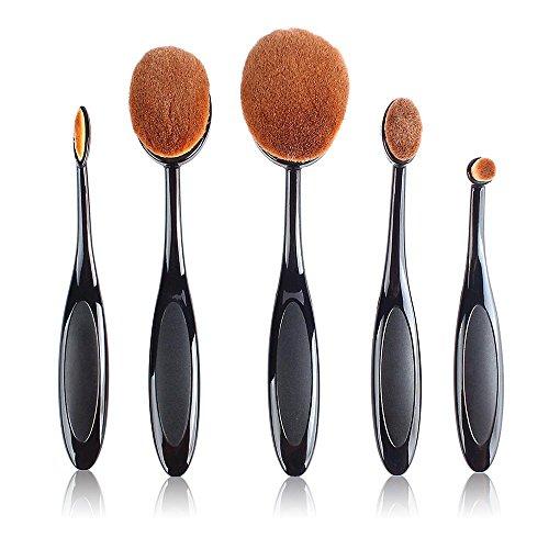 Cosprof Brosse à dents Forme sourcils Maquillage Brosse Fond de teint poudre Brosse Kits (pour poudre, Correcteur, contour, fond de teint, Mixer, sourcils, et Eye Liner Pinceaux) Lot de 5
