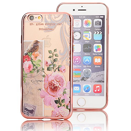 Sunroyal iPhone SE/ 5S/ 5 Silicone Case Cover, Scratch-resistant Ultra Slim TPU Case Cover Soft Protective with Natural Pattern Design Transparent Cover Katze pattern Transparent Soft silicone sleeve  Pattern 06