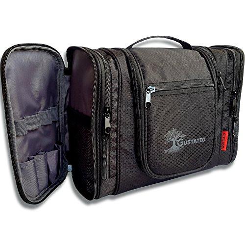 GUSTATIO - Premium Kulturbeutel - XXL Kosmetiktasche - Große Waschtasche zum Aufhängen mit vielen Fächern & Stauraum für Reisen, Camping und Outdoor - Ultra leicht -