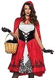 LEG AVENUE 85614 - Kostüm Set Klassische Rotkäppchen, Damen Fasching, L, Rot