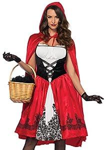 Leg Avenue- Mujer, Color Rojo, Small (EUR34-36) (85614)
