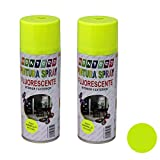 Montoro - Pack de 2 botes de pintura en spray Amarillo fluorescente F201 400 ml