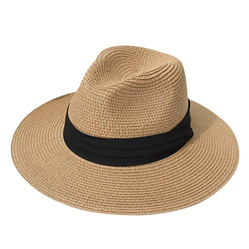 DRESHOW Women Straw Panama Hat F...