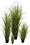 Klocke Kunstpflanzen Hochwertiges & Künstliches Gras/Dekogras im Topf - Wunderschön & Naturgetreu - Grasarrangement/Gras Arrangement/Grasbüschel/Grasbündel (Groß: 150cm)