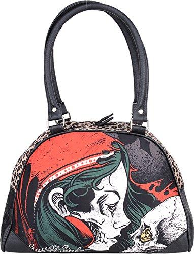 Liquor Brand DIAMOND GYPSY 50s Oldschool Tattoo Bowling Bag / Rockabilly (Handtasche Geprägte Mode)
