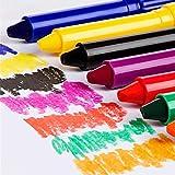 Queta Bâton de Peinture à l'huile coloré Rotatif pour Enfant Couleurs lavables Crayons de Peinture rotatifs Non Toxiques à l'huile Pastels Crayons pour Enfants Tout-Petits 24 Color
