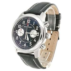 Revue Thommen Herren-Armbanduhr XL Chronograph Automatik Leder 16064.6737