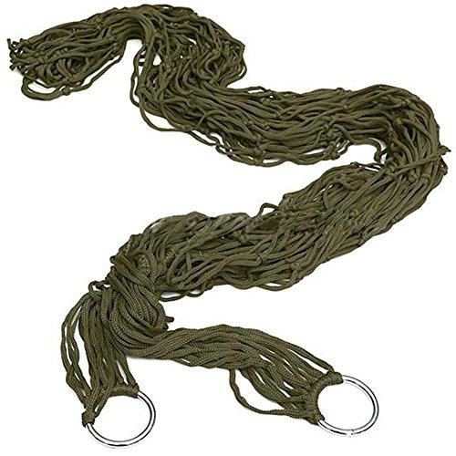 Romancy Mesh Nylon Rope Hängematte Single Hängematte Swing (Grün) - Single Rope Swing