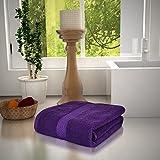 #8: Magna 450GSM Premium Cotton Large Bath Towels-PURPLE