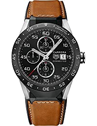 Tag Heuer Connected SAR8A80.FT6070 Brown Calfskin Leather Mens Smartwatch