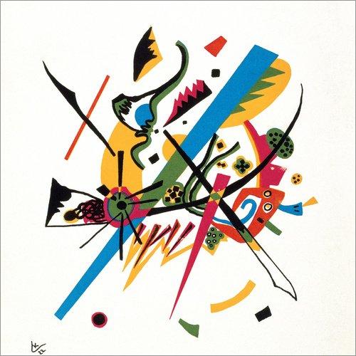 Posterlounge Acrylglasbild 30 x 30 cm: Kleine Welten von Wassily Kandinsky - Wandbild, Acryl...