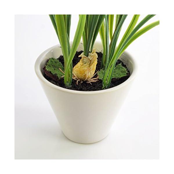 artplants.de Campanilla con Cebolla, en Maceta, Blanco, 30cm – Planta Artificial – Flores Decorativas
