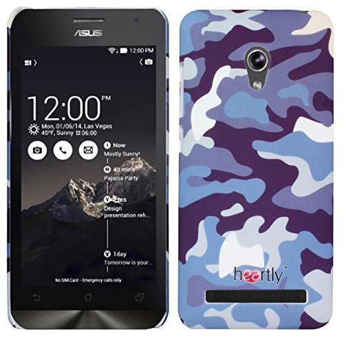 Heartly Army Style Retro Color Armor Hybrid Hard Bumper Back Case Cover For Asus Zenfone 5 Lite A502CG - Navy Blue  available at amazon for Rs.249