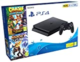 PlayStation 4 (PS4) - Consola de 500 GB + Crash Trilogy + Ratchet