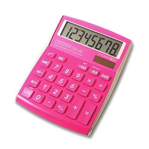 Citizen CDC-80PK Tischrechner Color Pink