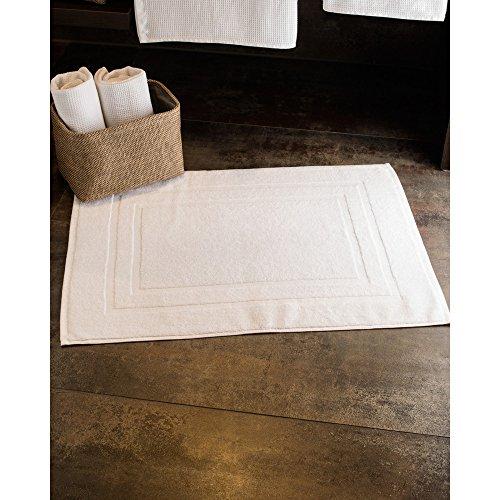 Jassz Tiber Badezimmer Matte 100% Baumwolle (2 Stück/Packung) (Einheitsgröße) (Weiß) -