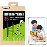 Cyxus filtro de luz azul pantalla bloqueo uv [mejor sueño] ultra HD 9H protector de pantalla de vidrio temperado para Apple iPad iPad Air 1 / 2 (9,7 pulgada) Especialmente diseñado para niños