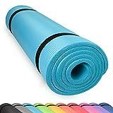 diMio Yogamatte Gymnastikmatte Rutschfest mit Tragegurt, phlatatfrei + SGS-geprüft, 185x60x1.5cm SkyBlue