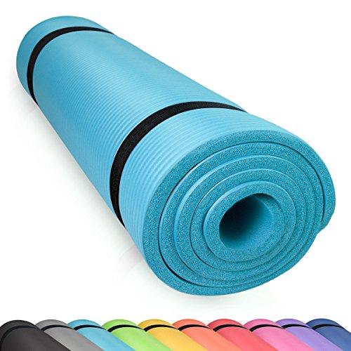 diMio Yogamatte Gymnastikmatte Rutschfest mit Tragegurt, phlatatfrei + SGS-geprüft, 185x60x1.0cm SkyBlue (1200, Teppich)