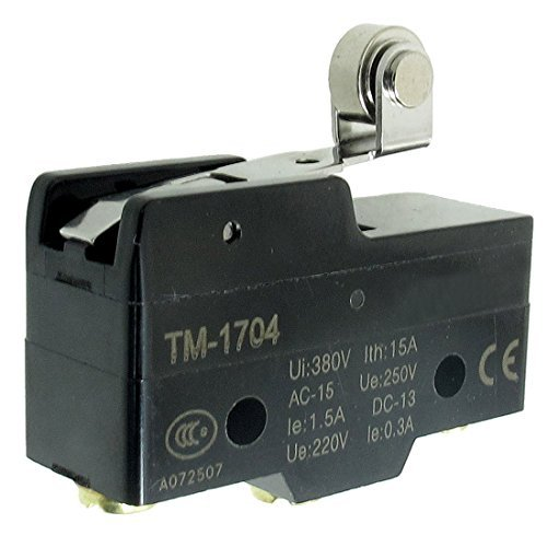 TM-1704 Kurz Hinge Roller Lever Momentary Micro Limit Switch - Limit Switch, Roller