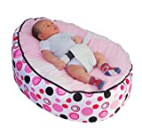 MamaBabaBebe® Baby Bean Bag snuggle bed bouncer with Safety Harness & 2 Removable Covers