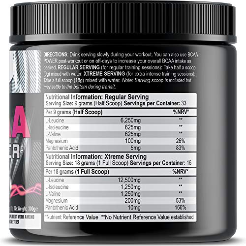 51ce1VmrjhL. SS500  - Iron Labs Nutrition, BCAA Power - 15,000mg BCAAs Per Serving - Intra Workout BCAA Supplement Drink - Berry Blast Flavour…
