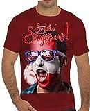 Stylotex Slimfit Fashion T-Shirt So sehn Sieger aus Shout for Austria Österreich, Farbe:rot;Größe:XL