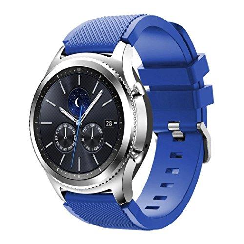 Galleria fotografica Gear S3 Classic Watch Cinturino, Venter® Sostituzione molle del silicone di sport della cinghia per Samsung Gear S3 Frontier / S3 Classic / Moto 360 2nd Gen 46mm Smart Watch(NOT FIT S2 & S2 Classic & Fit2)