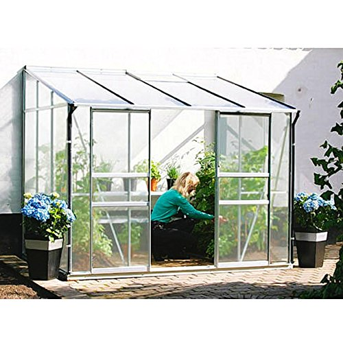 Ida 5200 Alu-Anlehngewächshaus HKP 6 mm Balkon-Gewächshaus 5,2 m² mit Fundament