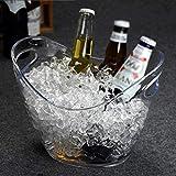 Wine Rack - Kunststoff Umweltschutz Weinfass Champagner Weinfass Barren Eiswürfelbehälter Eiswürfel Felice Home (Farbe : Transparent Color, größe : L)