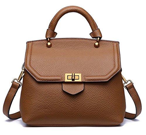 Xinmaoyuan Borse donna Protezione sollevabile in pelle Borsette Fashion primo strato di gusci in pelle borsa a tracolla messenger bag Brown