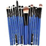 FNKDOR 15 Stk Make-up Pinsel Kosmetika Bürste Sets, Blau/Schwarz