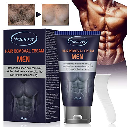 Crema Depilatoria Uomo, Crema Depilatoria, Hair Removal Cream, Crema Depilatoria per uomo, Indolore Crema Di Rimozione, 60ml,...