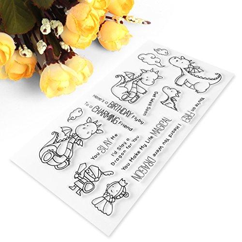 Cartoon Dragon Transparent Stamp Silicone Seal DIY Scrapbook Diary Album Card S9