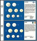 Prophila 6 Stück Euro-Vordruck-Tabletts Irland, Finnland, Portugal, Spanien, Griechenland, Italien
