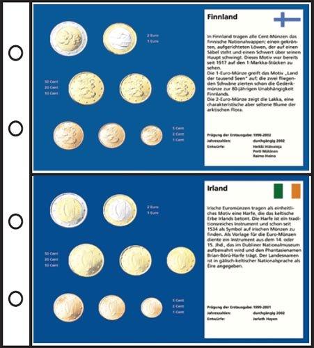 Prophila Collection 6 Stück Euro-Vordruck-Tabletts Irland, Finnland, Portugal, Spanien, Griechenland, Italien