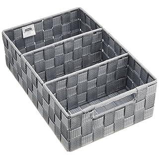 Wenko 21532100 Organizer Adria mit Griff grau - Badorganizer, Polypropylen, 32 x 10 x 21 cm, grau