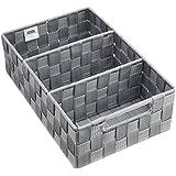 Wenko 21532100 Adria - Cesta para accesorios de baño (con asas, 32,0 x 21,0 x 10,0 cm), color gris