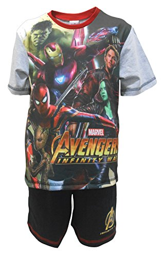 Boys Pyjamas Shorty Marvel Avengers Pjs Infinity War Gamora Hulk Sizes from 4 to 10 Years