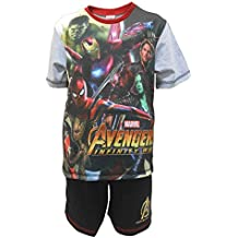 2c4dabd2a2 Jungen Schlafanzug kurze Marvel Avengers Pyjama Unendlichkeit Krieg Gamora  Hulk Größen von 4 bis 10 Jahren