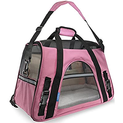 CSDAPet Articles Large Pet Backpack Portable Hand Carry Dog Cage Ventilation and Warm Cat Cage by CSDA