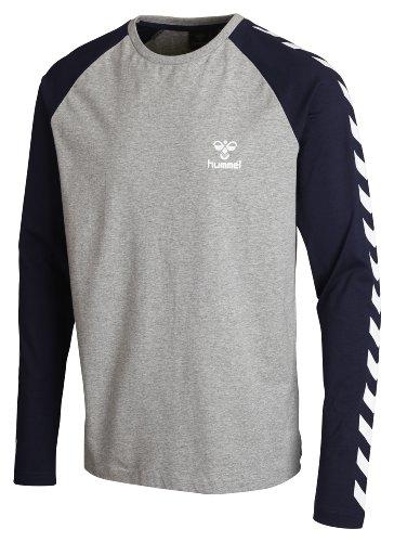 hummel-unisex-langarmshirt-classic-bee-long-sleeve-chevron-tee-grey-melange-xl-08-977-2006