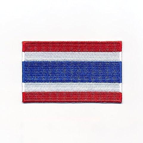 60 x 35 mm Königreich Thailand Flagge Bangkok Flag Aufnäher Aufbügler 0963 (35 Flags)