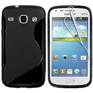 MCI Coque Gel TPU S-Line Samsung Galaxy Core I8260 / i8262 Couleur Noir