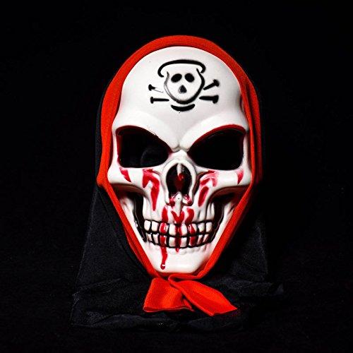 INOVEY Halloween Terror Maske Clown Schädel Vendetta Mann Maske für Bühne Streetdance - 2