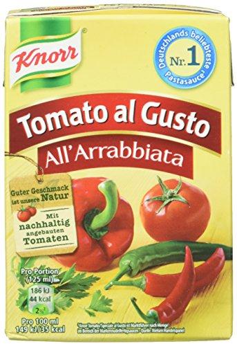 Knorr Tomato al Gusto All\' Arrabbiata Soße, 8er-Pack (8 x 370 g)