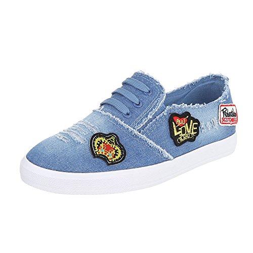 Ital-Design - Pantofole Donna Blau R58