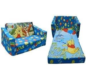 Disney Winnie The Pooh Childrens Flip Out Double Foam Sofa
