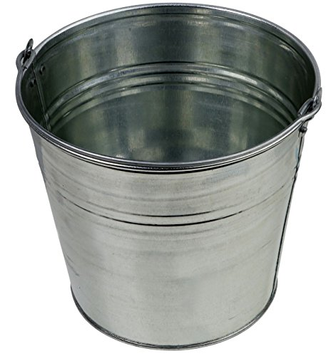 Zinkeimer Blecheimer verzinkt 15 Liter Wassereimer Metalleimer Eimer Dekoeimer (15 Liter)